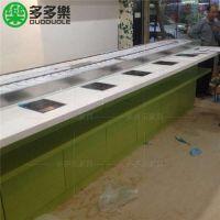 深圳现代中式串百味回转小火锅设备 自助火锅吧台订做