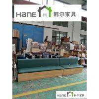 工厂直销咖啡厅简约卡座定做 上海韩尔就是质量好