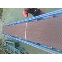 中天定制自动化裙边爬坡输送机 矿业专用煤块防滑爬坡输送机