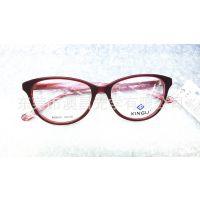新款复古金属半框平光镜 猫眼眼镜框镜架男女适用可配近视