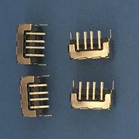 AF 90度DIP 双面插母座 USB 8P 直角直边卷边 两脚插板 垫片 黑胶