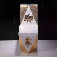 3D连体陶瓷马桶家用卫浴彩色钻石一体式座便器