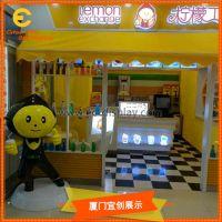 餐饮奶茶咖啡店连锁店招财玻璃钢卡通人物公仔道具制作厂家美陈DP陈列公仔
