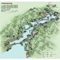 尖尾峡漂流手绘地图,手绘地图,麦扑手绘地图