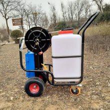 精品供应电动推车喷雾器庄稼杀虫打药车60L担架式喷药机