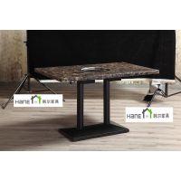 上海韩尔家具厂 订做大理石餐厅桌子 快餐店桌子 快餐厅餐桌