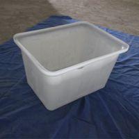 批发常州滚塑产品50L塑料水箱方形 带轮推布车