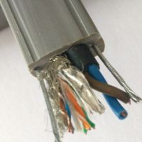 1*CAT5E+2*0.75+双钢丝网线电源钢芯特种复合电缆