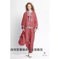 女装批发货源棉麻品牌女装折扣女装一手货源直销