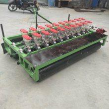 启航白菜精量播种机 拖拉机带动四行谷子播种机 六行手推蔬菜籽精播机