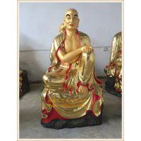 正圆五百罗汉佛像塑造厂家,玻璃钢佛教五百罗汉生产厂家,彩绘贴金工艺。