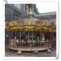 荥阳梦幻童缘游乐设备厂供应经典游乐设备豪华海洋转马旋转木马16座
