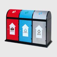 云南诚信厂家 优质供应垃圾桶 环卫不锈钢垃圾桶 室外有盖垃圾桶