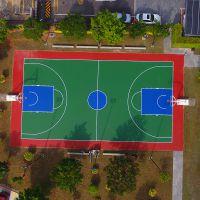 室外弹性篮球场地面施工 珠海实验中学标准篮球场地面建设报价