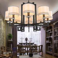 led吊灯新中式客厅灯圆形吸顶灯现代金色餐厅吊灯卧室酒店工程灯