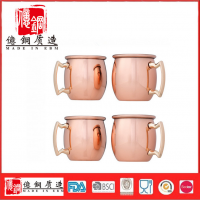 厂家直销创意莫斯科杯 mini马克杯 小红铜杯定制