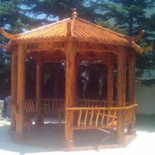 重庆、湖北、贵州遵义、兴义、贵阳碳化木凉亭、仿古四角岗亭,贝特木屋定制厂家