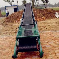 土豆装车输送机 兴运600宽10米长皮带输送机定做