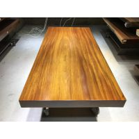 奥坎大板茶桌 200长91宽 红木实木办公会议餐桌原木画案老板桌