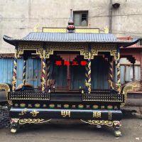 供应铸铁长方形八龙柱香炉 景区宫观大殿前露天香炉