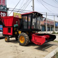 背负式小型玉米秸秆收割机 自走式秸秆青储机 优质牧草粉碎机