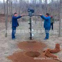 双人操作手提式汽油大马力地钻机 工地施工钻孔机 护栏打桩机