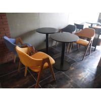 麦德嘉MDJ-DZ02可定做北欧实木餐桌椅组合小户餐厅饭店铁艺桌椅