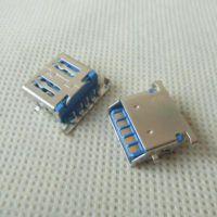 斜口uSB3.0沉板母座 3.0USB沉板90度AF-90度dip卧式USB3.0-A母