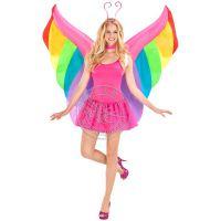 一件代发万圣节充气服装彩色仙女蝴蝶充气翅膀活动舞台表演充气服