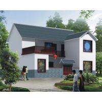 新余房子设计AT1767二层前后院中式新农村自建小别墅设计施工图纸12.9mX13.5m