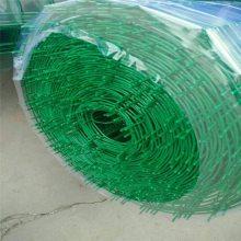 兰溪1.5×30米成卷波浪荷兰网-5×5公分孔浸塑荷兰网-3mm河塘圈护铁丝围栏网商家