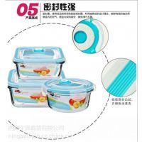 宁派西安玻璃饭盒套装,玻璃密封保鲜盒,保鲜碗印字