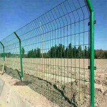 桃型立柱护栏网 隔离栅护栏 道路隔离铁丝网