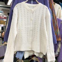 便宜毛衣针织毛衣外套时尚韩版毛衣包芯纱长款毛衣亏本清货特价批发