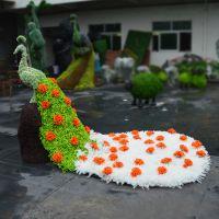 广州珠三角深圳包安装 仿真绿雕 园艺动物绿雕 大象五色草 草皮绿雕 厂家定做造型动物 园林景观