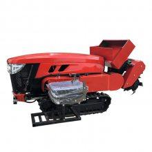 28马力单缸水冷发动机施肥开沟机 履带式深耕施肥回填机
