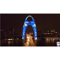 广州猎德大桥 猎德大桥投影设备 猎德大桥投影厂家 星迅供
