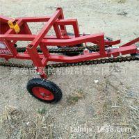 四轮悬挂轴传动式收获机 低破损花生收获机械 平铺花生收获机