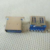 uSB3.0沉板90度母座 3.0USB沉板AF-90度dip带支架USB3.0-平口A母