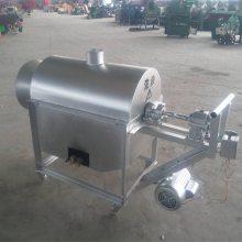厂家直供小型全自动花生炒货机 不锈钢电加热炒锅机 宏兴牌滚筒炒锅机