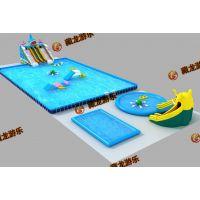 水池水滑梯多少钱 支架水池300平米多少钱 做生意设备支架水池游乐园定做
