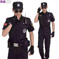 批发黑色保安服短袖套装制服正品夏季作训服安保特勤长袖99服装夏