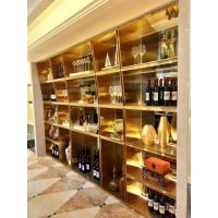 酒庄酒窖不锈钢酒柜酒架定制厂家 简约现代