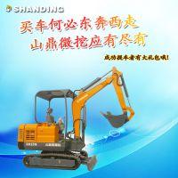 应用于花椒地挖沟山鼎超小型履带挖沟机