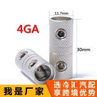 2包线耦合器端头对接接头4GA AWG测量木工圆头螺钉