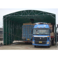 定户外仓储雨棚移动伸缩雨棚布活动推拉蓬汽车遮阳棚