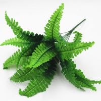 厂家直销婚庆花艺植物墙绿植墙配材蕨类植物7叉仿真波斯草 波斯叶