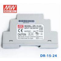 台湾明纬 DR-15-24 开关电源15W 24V0.63A 单路输出 DIN导轨安装