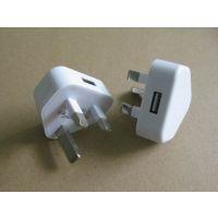 三角插USB充电器 5V1A电源适配器 CE FCC认证充电器 三角形插脚USB火牛 苹果手机适配器