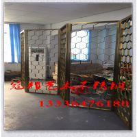 新疆乌鲁木齐不锈钢 古典酒吧不锈钢办公屏风制造 玫瑰金拉丝屏风